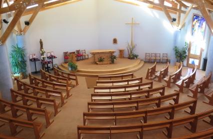 Intérieur, chapelle ND de Haute Lumière, Les Saisies