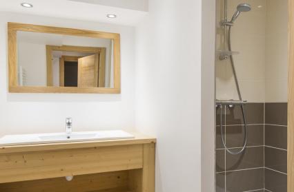 salle de douche chalet cosy